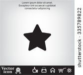 star   vector icon | Shutterstock .eps vector #335789822