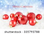 christmas background with red...   Shutterstock . vector #335793788