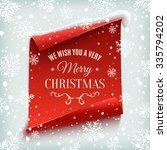 we wish you a very merry... | Shutterstock .eps vector #335794202
