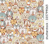 animals. dogs vector seamless...   Shutterstock .eps vector #335799065