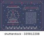 merry christmas outline...   Shutterstock .eps vector #335812208