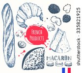 french food in the sketch style.... | Shutterstock .eps vector #335821925