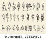 Sketch Of People  Vector...