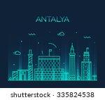 antalya skyline  detailed... | Shutterstock .eps vector #335824538