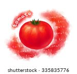 red tomato illustration with... | Shutterstock . vector #335835776