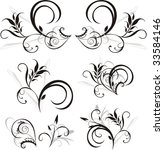 pattern of floral ornaments for ... | Shutterstock .eps vector #33584146