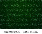 abstract green matrix...   Shutterstock .eps vector #335841836
