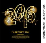 happy new year 2016 | Shutterstock .eps vector #335844905