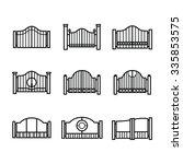 gate vector  black line | Shutterstock .eps vector #335853575