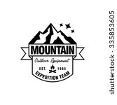 mountain hipster logo template | Shutterstock .eps vector #335853605