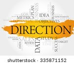 direction word cloud  business... | Shutterstock .eps vector #335871152
