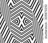 black and white vector seamless ... | Shutterstock .eps vector #335873252