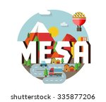 mesa city logo in colorful... | Shutterstock .eps vector #335877206