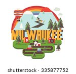 milwaukee city logo in colorful ... | Shutterstock .eps vector #335877752