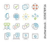 customer support icons.... | Shutterstock .eps vector #335878916