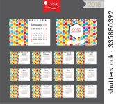 2016 calendar.desk calendar... | Shutterstock .eps vector #335880392