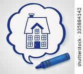 doodle house | Shutterstock . vector #335884142