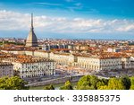 View of Turin city center with landmark of Mole Antonelliana-Turin,Italy,Europe