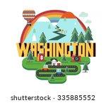 washington  great destination...   Shutterstock .eps vector #335885552