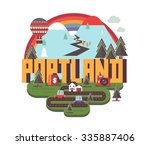 portland  oregon great...   Shutterstock .eps vector #335887406