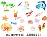 summer  holidays at the beach ... | Shutterstock .eps vector #33588934