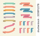 ribbons and labels vector set.... | Shutterstock .eps vector #335891378