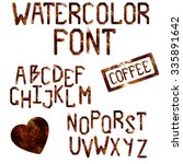the latin alphabet. large block ... | Shutterstock .eps vector #335891642