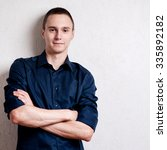 happy young man. portrait of... | Shutterstock . vector #335892182