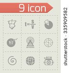 vector time icon set on grey... | Shutterstock .eps vector #335909582