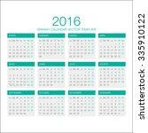 Vector Spanish Calendar 2016...