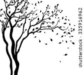 vector drawing of the tree | Shutterstock .eps vector #335916962