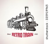 retro train  vintage  vector... | Shutterstock .eps vector #335919965