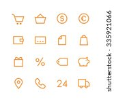 shop icon set   vector...
