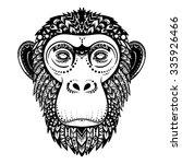 vector black and white  ethnic...   Shutterstock .eps vector #335926466