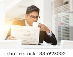 young asian indian businessman... | Shutterstock . vector #335928002