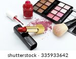 beauty tools on white background | Shutterstock . vector #335933642