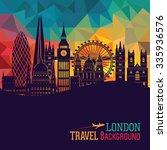 london detailed skyline. vector