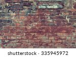 Red Old Worn Brick Wall Textur...