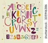 funky abc for kids | Shutterstock .eps vector #335946386