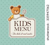 vintage besign of kids menu... | Shutterstock .eps vector #335947562