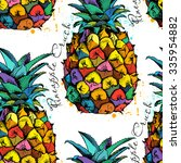 seamless pattern with image of...   Shutterstock .eps vector #335954882