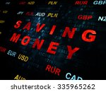 finance concept  pixelated red... | Shutterstock . vector #335965262