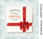 merry christmas greeting card... | Shutterstock . vector #335975012