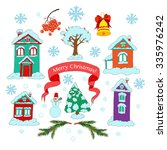 vector collection of christmas... | Shutterstock .eps vector #335976242