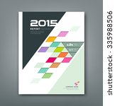 cover annual report colorful... | Shutterstock .eps vector #335988506