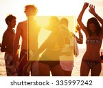 copy space frame summer... | Shutterstock . vector #335997242