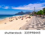 Ipanema Beach With Mosaic Of...
