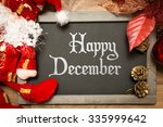 blackboard with the text  happy ...   Shutterstock . vector #335999642