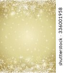 golden background with  frame... | Shutterstock .eps vector #336001958