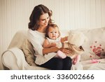 happy family. mother and baby... | Shutterstock . vector #336002666